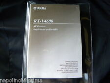 Yamaha RX-V4600 Owner's Manual  Operating Instruction   New