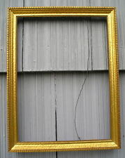 Antique Vintage Art Crafts Gold Gilt Wavy Finish Picture Frame 9 x 12