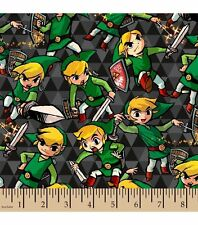 Legend of Zelda ~ Sword and Shield FLANNEL Fabric ~ 42 x 8 remnant