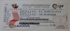 old TICKET EL Sevilla FC Spain - NK Maribor Slovenia and Sevilla - Barcelona