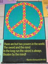 Psychedelic Peace # 260 True Vintage Third Eye Two Minds Black Light Poster 1970