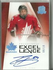 Evander Kane 09/10 UD The Cup Programme Of Excellence Canada Rookie Auto /10
