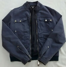 MEN'S BLUE VERSACE JACKET LARGE - FREE POSTAGE - GREAT CONDITION - MADE IN ITALY