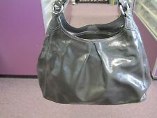 Genuine Coach Maggie Gray Grey Patent Leather Purse Shoulder Bag C0982-13900