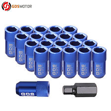 GDS 20pcs Blue 42mm Aluminum Wheel Lug Nuts M12x1.5 for Honda Civic Ford Fiesta
