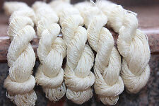 1 Skein - 100 Meters - 100% Tussah Silk Hand Embroidery Thread - Shinny Undyed
