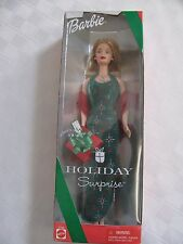 NEW 2000 Holiday Surprise Barbie Doll Mattel Christmas Green & Red Dress Present