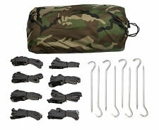 Aqua Quest Defender Tarp Kit - 100% Waterproof 4x 3 m (13 x 10 ft) Large - Camo