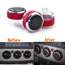3 pcs RED Air Condition Panel Control Switch Knob Buttons for Focus 05-14 Mondeo