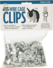 NEW MILLER PET LODGE ACC1 1LB BAG RABBIT METAL WIRE CAGE CLIPS USA MADE 9541269