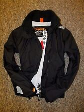 Superdry Womens jacket coat Technical Wind cheater outdoor jacket Black Size L