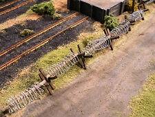 HO Roco Minitank Parts Set of Three Barbed Wire Barricades Custom Detailed #DP32
