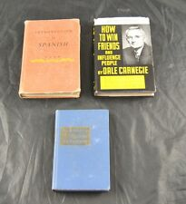 Lot Of 3 Classic Books Textbooks Spanish Dale Carnegie Harbrace College  S4B25