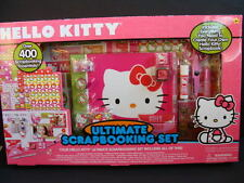 NEW Hello Kitty Ultimate Scrapbooking Set Pink 400 pc Scrapbook Kit Borders Kids