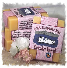 Gardenia _ Checkerboard SPA Sulphur Mineral Soap Made in Montana _ Handmade