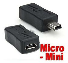 Micro USB Female to Mini USB Male Data Charger Adapter for Moto HTC Nokia Phone7