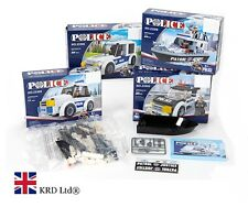 Kids POLICE VEHICLE BUILDING BLOCKS SET Model Car Kit Play Toy Christmas Gift UK