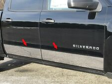 FITS CHEVY SILVERADO CREW 2014-2015 POLISHED STAINLESS CHROME ROCKER PANEL TRIM