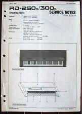 Original Roland RD-250s RD-300s Digital Piano Service Notes Manual Booklet