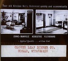 Asbestos Flexboard for your Kitchen, Edgar, Wisconsin, Magic Lantern Glass Slide