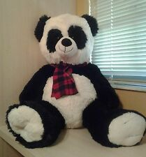 "Jumbo Black and White Teddy Bear Dan Dee Plush 33""  NWOT"