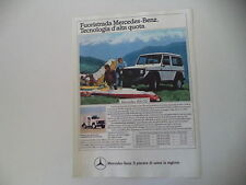 advertising Pubblicità 1984 MERCEDES BENZ 300 GD