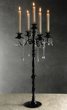 Glossy Black Candelabra, Can be used for a glamorous party or holiday decoration