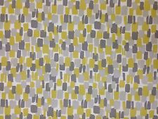 CLARKE & CLARKE SUNDOWNER CHARTREUSE YELLOW GREY RETRO CURTAIN FURNISHING FABRIC