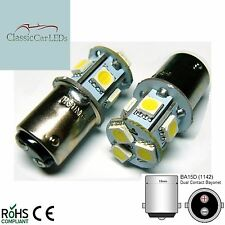 6V 6 VOLT WARM WHITE LED BULB GLB206 BA15D 5W MOTORBIKE MOTORCYCLE SCOOTER MOPED