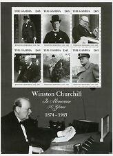 Gambia 2015 estampillada sin montar o nunca montada Winston Churchill In Memoriam 50 años 1874-1965 6v m/s