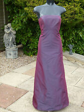 Monsoon Shimmering Purple Silk Strapless Dress 10 PROM Ball Wedding Cruise