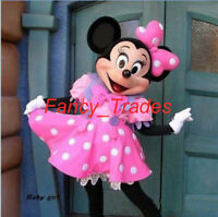 A++ Pink Minnie Mouse Mascot Costume Adult Size Fancy Dress Suit
