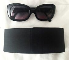 EUC $299 INITIUM 'LAX' Women's Sunglasses BLACK Made In Italy *Discontinued*