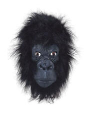 Gorilla (Closed Mouth) Rubber Mask Fancy Dress Costume Outfit Prop