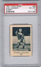 1952 Laval Dairy Subset Hockey Card Montreal Royals #86 Glen Harmon Graded PSA 6