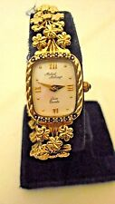 Michael Anthony 14kt solid gold flower band SWISS QUARTZ mother of pearl  watch