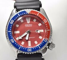 SEIKO DIVER Men's Automatic Watch 4205-0155 Pepsi Bezel Red Compass Band