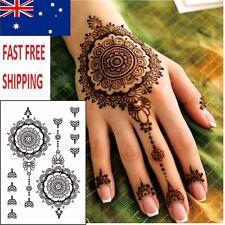 Henna Hand Temporary Tattoo - 1 full sheet of tattoos Tribal Mandala