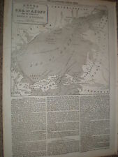 Map of the Sea of Azoff Black Sea 1855 old print