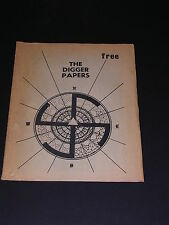 Very Rare DIGGER PAPERS Newspaper FIRST EDITION SAN FRANCISCO 1968