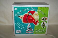 Sal Gal Flying Santa Claus Tree Topper Red Paper Mache Centerpiece