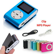 Mini Practical USB Clip MP3 Player Support 32GB Micro TF/SD+ White Earphone+USB