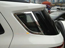 Chromed 2PCS Rear Window Spoiler Side Cover Trim New For Ford Ecosport 2013-16