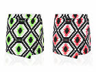 Women Ladies Neon Skirt Shorts Plain Mini Wrap Skort Irregular Flanging Culottes