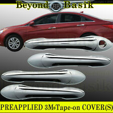 Fits 2011-2014 Hyundai Sonata Chrome Door Handle Covers Overlays Trims