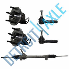 Electric Steering Rack and Pinion 2 Front Wheel Hub Bearing 2 Tie Rod 5 Bolt ABS