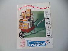 advertising Pubblicità 1961 PLASMON BISCOTTI PASTINA DAVID