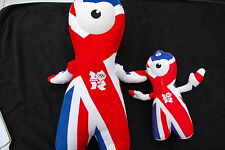 Pair of Wenlock London Olympics Mascots one large (46cm) one small (26cm) vgc