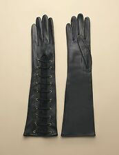AGENT PROVOCATEUR LEENA LEATHER LONG GLOVES BLACK  ONE SIZE RRP £395
