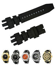 New Black Silicone Rubber Watch Band Strap For Invicta Subaqua Reserve Analog
